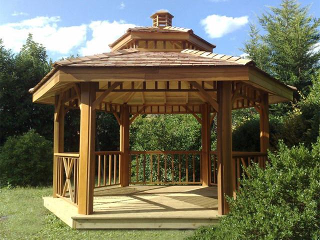 La gloriette polygonale guide de construction des gloriettes kiosques et g - Plan de gazebo en bois ...